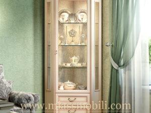 Шкаф для посуды угловой крем в Миассе