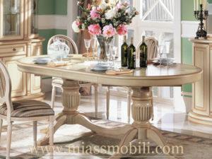 Стол обеденный овальный крем в Миассе