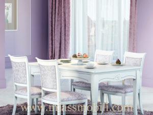 Стол обеденный Viola белая в Миассе