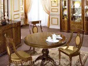 Стол обеденный с круглой крышкой орех в Миассе