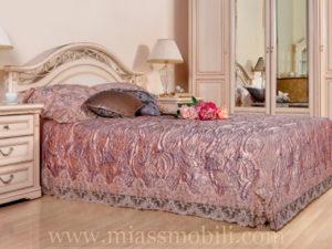 Двуспальная кровать 1600×2000, вариант №1 без ножной спинки