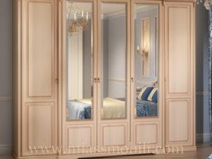 Шкаф 5-ти дверный для платья и белья крем в Миассе