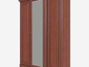 Шкаф для одежды 3-дверный, 1 зеркало с выступом (Сп В-8-2/2)