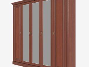 Шкаф для одежды 5-дверный, 3 зеркала  (Сп В-8-4)