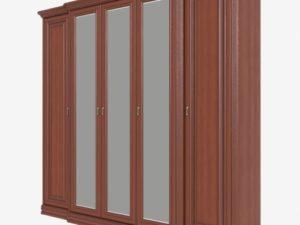 Шкаф для одежды 5-дверный с выступом, 3 зеркала (Сп В-8-4/4)