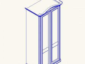 Сп СФ-8-1 Шкаф 2х дверный с гнут карнизом без зеркала